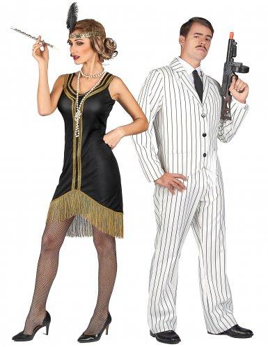 20er-Jahre Gangster und Charleston-Lady Kostüm für Erwachsene
