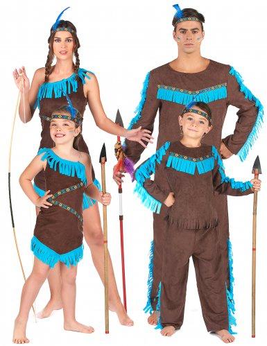 Familien Kostüm Indianerstamm