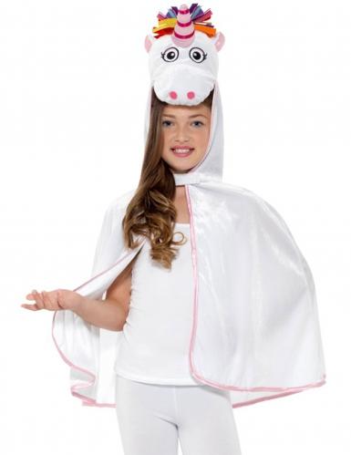 Einhorn-Umhang für Kinder Kostümzubehör weiss-bunt