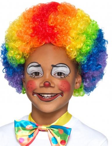 Afro-Perücke Clown für Kinder bunt
