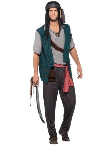 Piraten-Seeräuber Kostüm für Erwachsene bunt