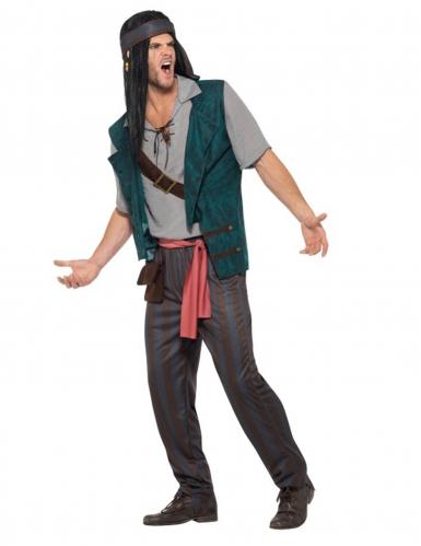 Piraten-Seeräuber Kostüm für Erwachsene bunt-2