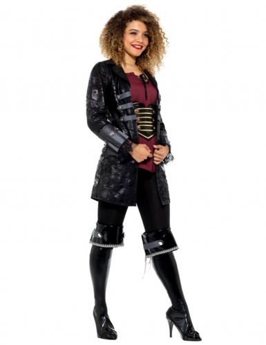 Piraten-Mantel Kostümzubehör schwarz-grau-1