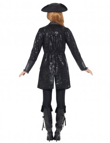 Piraten-Mantel Kostümzubehör schwarz-grau-3