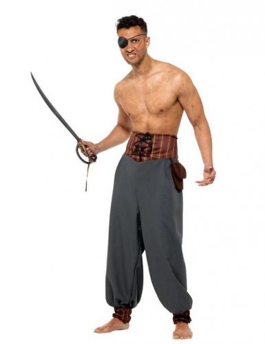 Piraten-Hose für Herren grau-1
