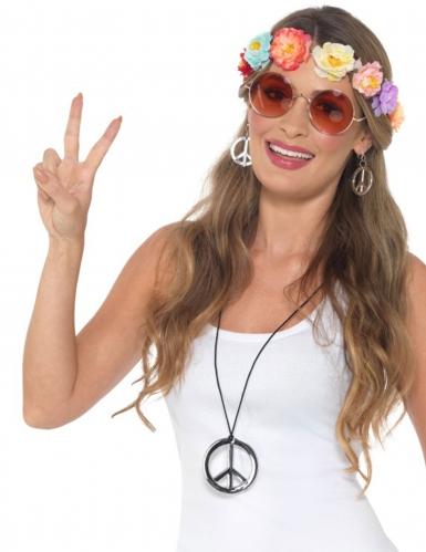 Hippie-Accessoire-Set 60er-Jahre für Damen bunt