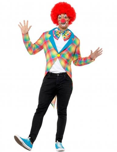 Clown Frack in Regenbogenfarben für Erwachsene XL