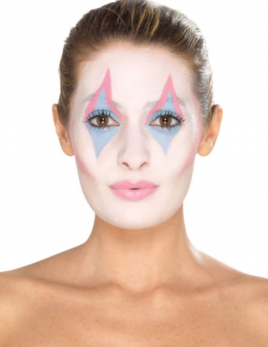Clown-Make-up Set für Damen schminke 8-teilig bunt-2