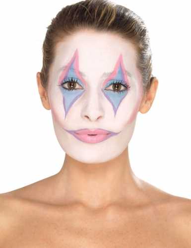 Clown-Make-up Set für Damen schminke 8-teilig bunt-3