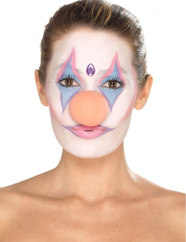 Clown-Make-up Set für Damen schminke 8-teilig bunt-4