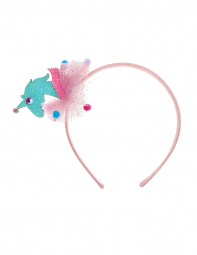 Einhorn Haarreif 3D für Mädchen pink-silber-2