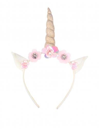 Einhorn-Haarreif Kopfschmuck für Damen rosa
