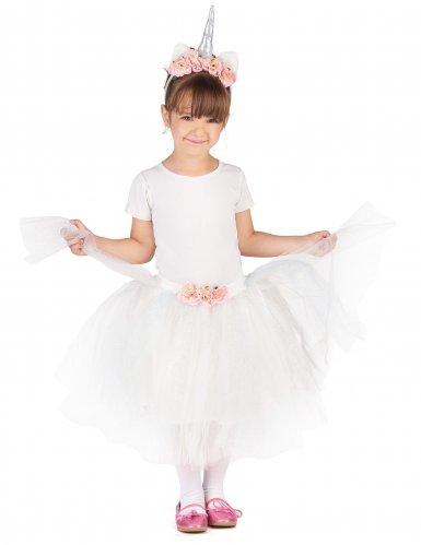 Einhorn-KostümSet für Kinder weiss-rosa-1