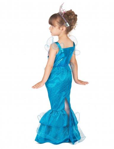Meerjungfrauen-Kinderkostüm für Mädchen blau-rosa-1