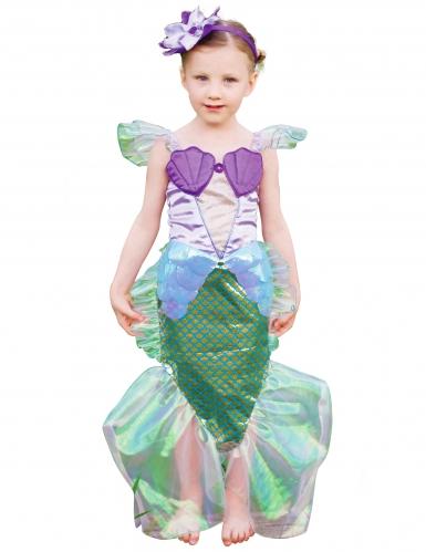 Meerjungfrauen Mädchenkostüm für Kinder lila-grün