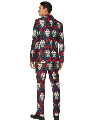 Mr. Skull-Suitmeister™ Totenschädel Herrenanzug Tag der Toten bunt-1