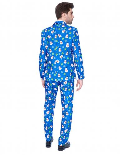 Mr.Snowman Opposuits™ für Herren Weihnachten blau-bunt-1