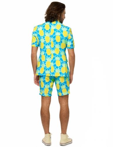 Ananas-Opposuits™-Sommeranzug für Herren blau-weiss-gelb-2