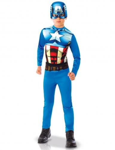 Captain America™ Lizenzkostüm für Kinder blau-rot-weiss