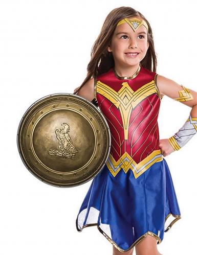Wonder Woman™ Schild für Kinder gold 30 cm