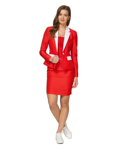 Mrs. Santa Suitmeister™-Damenkostüm für Weihnachten rot-weiss
