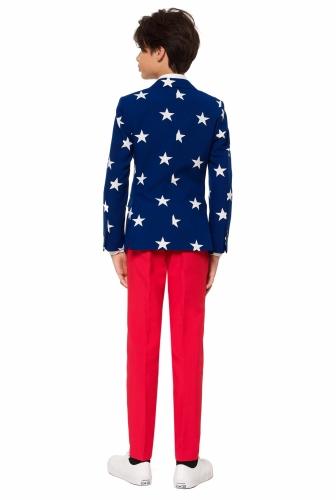 Mr. USA-Opposuits Anzug für Teenager blau-weiss-rot-1