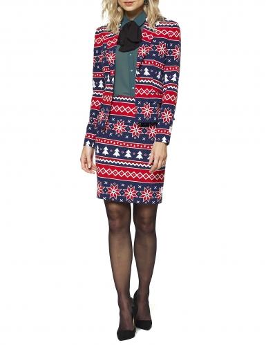 Nordic Xmas- Opposuits™-Damenkostüm Weihnachten blau-rot-weiss