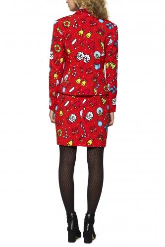 Weihnachtsfrau-Opposuits™-Kostüm für Weihnachten rot-bunt-1