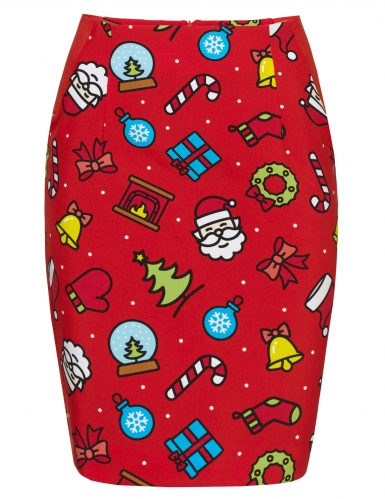 Weihnachtsfrau-Opposuits™-Kostüm für Weihnachten rot-bunt-2