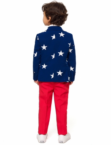 Mr. USA-Opposuits™ für Kinder blau-rot-weiss-1