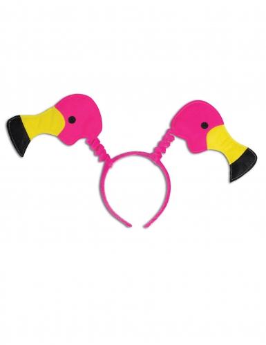 Flamingo Haarreif pink gelb