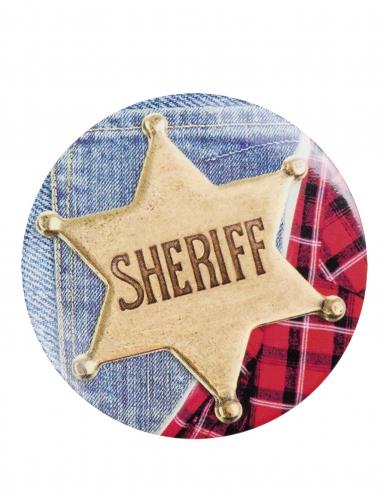 Sheriff Anhänger-Set Accessoire 4 Stück bunt 5,5cm