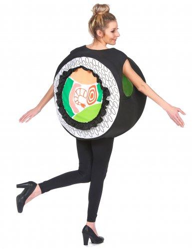 Lustiges Sushi-Kostüm humorvolle Verkleidung Karneval schwarz-bunt-2