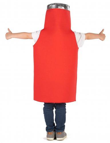 Witziges Ketchup-Kinderkostüm Karneval rot-1