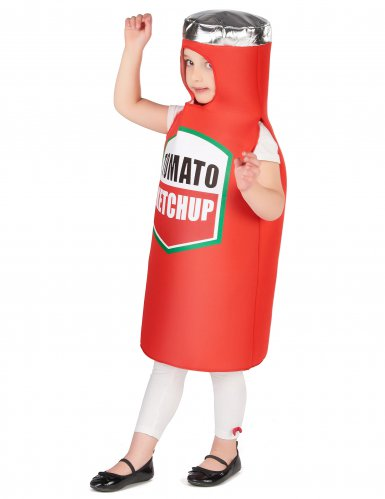 Witziges Ketchup-Kinderkostüm Karneval rot-2