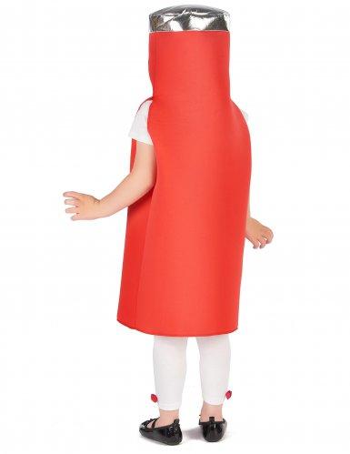 Witziges Ketchup-Kinderkostüm Karneval rot-3