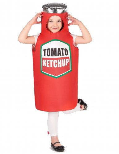 Witziges Ketchup-Kinderkostüm Karneval rot-4