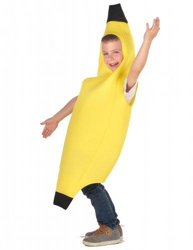 Lustiges Bananen-Kostüm für Kinder Früchte gelb-1