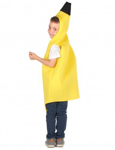 Lustiges Bananen-Kostüm für Kinder Früchte gelb-2