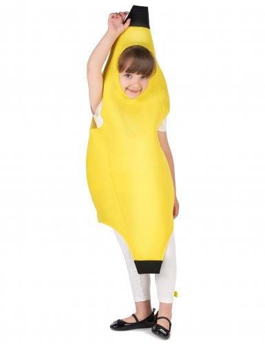 Lustiges Bananen-Kostüm für Kinder Früchte gelb-4