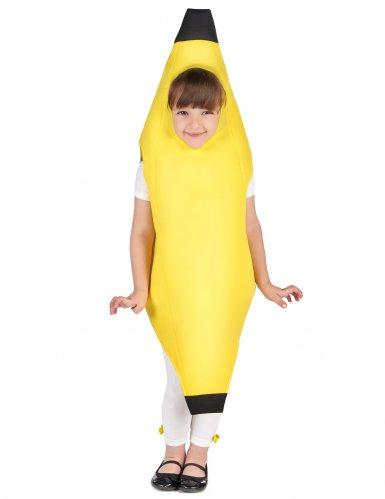 Lustiges Bananen-Kostüm für Kinder Früchte gelb-5