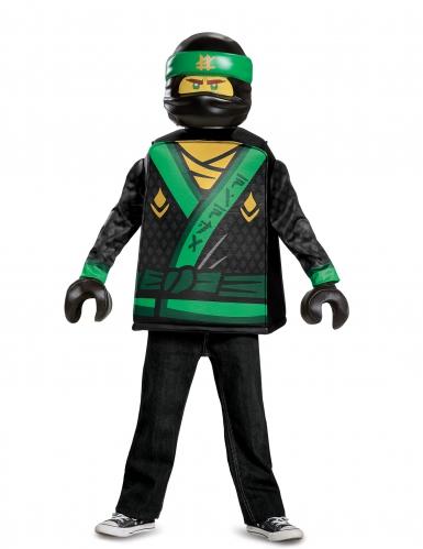 Ninjago™-Lloyd-Kostüm für Kinder Lego™ Lizenzkostüm schwarz-grün-gelb