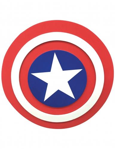 Captain America™-Zubehör Schild Lizenz weiss-rot-blau 30cm