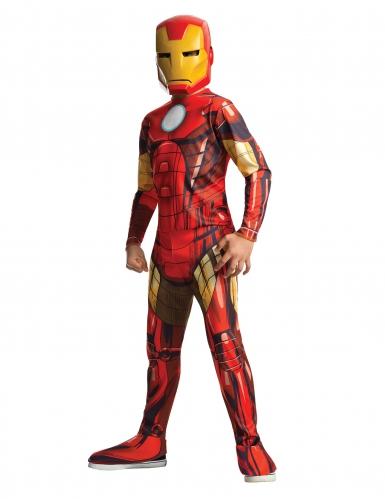 Iron Man™-Kostüm für Jungen Lizenz-Verkleidung rot-gelb