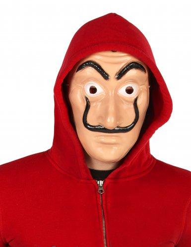 Bankräuber-Kostüm mit Maske für Erwachsene rot-2