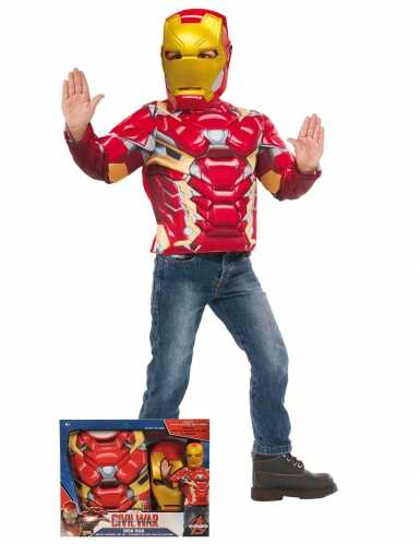 Iron Man™-Kostüm-Set Lizentartikel für Kinder rot-gelb