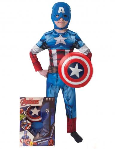 Captain America™-Kostüm für Kinder Lizenzware blau-rot-weiss