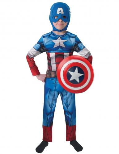 Captain America™-Kostüm für Kinder Lizenzware blau-rot-weiss-1