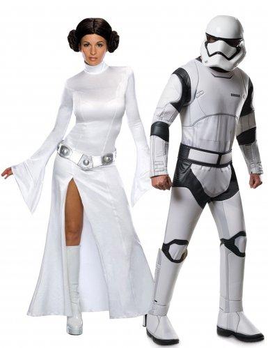Star Wars™ Paarkostüm Prinzessin Leia und Stormtrooper