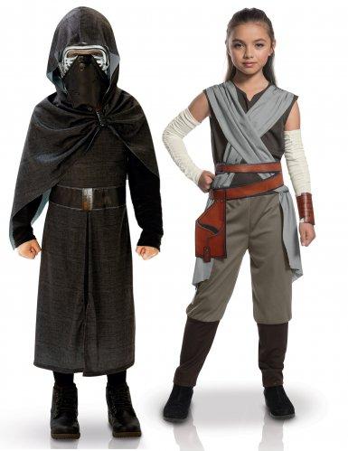 Star Wars™-Paarkostüm für Kinder Kylo Ren und Rey Lizenzartikel bunt